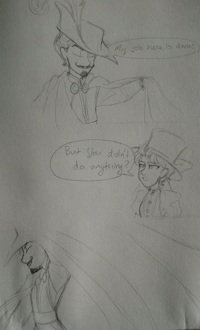 done by LOZ-Elisrilianfan.deviantart.com on @DeviantArt ~ I COULD'T HELP BUT DO THIS ITS SO PERFECT  Curtain Call (MD's predecessor) is the very definition of Extra, but thats to be expected when you're a thespian   (sorry the papers all wrinkled, i spilled tea on my sketchbook -_-)
