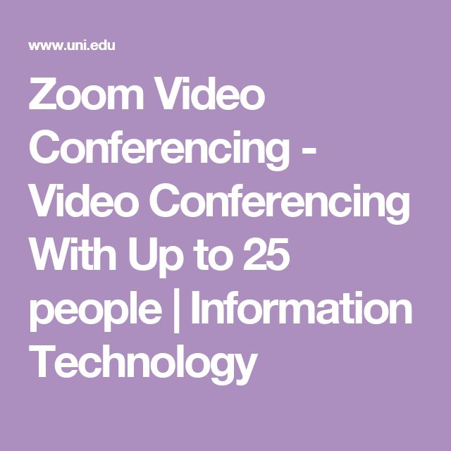 Zoom Video Conferencing - Video Conferencing With Up to 25 people | Information Technology