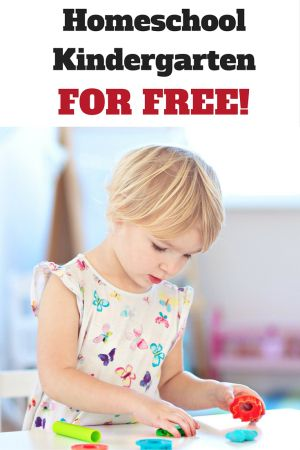 Love these ideas for homeschooling Kindergarten for free! Great ideas and easy to implement!