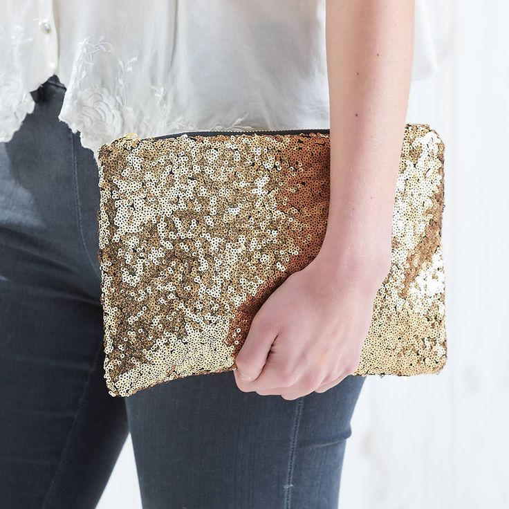 Personalised Sequin Clutch