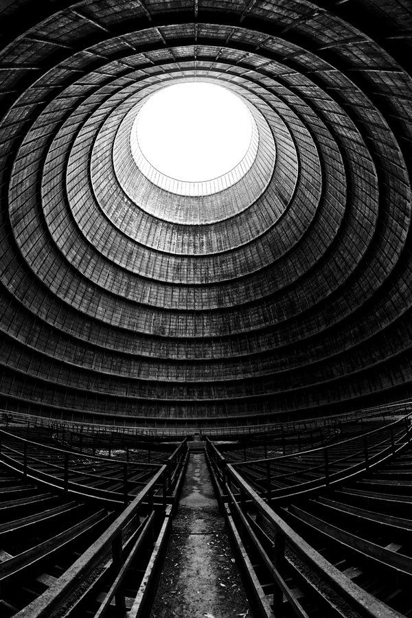Inside the Tower II / *illpadrino Photography  Location: Abandoned Cooling Tower, Belgium.