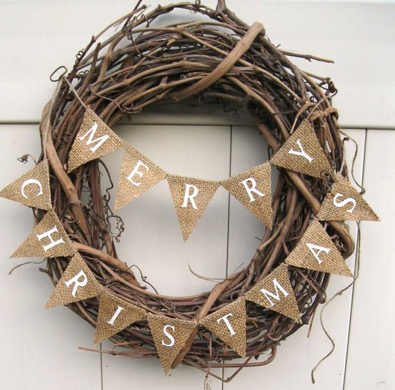 Merry Christmas wreath. I could add some colour.