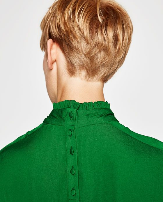 Image 6 of FRILL NECKLINE BLOUSE from Zara