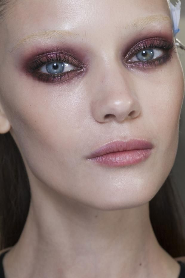 Gucci A/W 2013. Exquisite makeup...what color is this, a plum, amethyst...I love it!