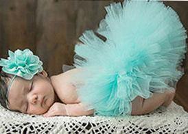 Blue or Pink Newborn Tutu with Headband