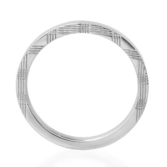 """Hatae jewelry """"Ian"""" K18WG -  Marriage Ring - Wedding Band Men"""
