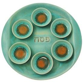 Ceramic and Glass Seder Plate