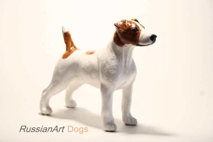 Jack Russell Terrier statue, figurine handmade of ceramic, statuette by RussianArtDogs on Etsy