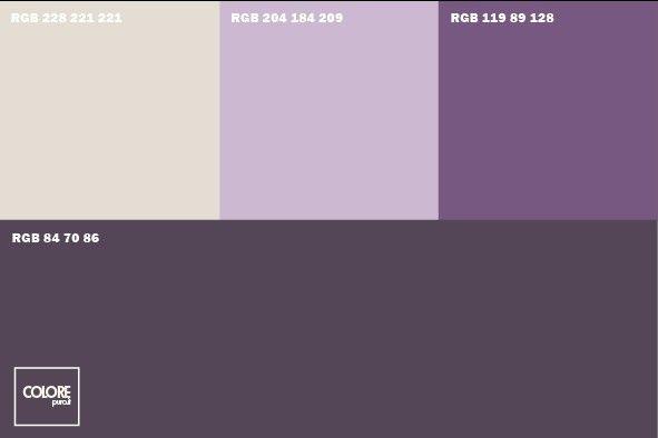 Abbinamento diverse tonalità di viola