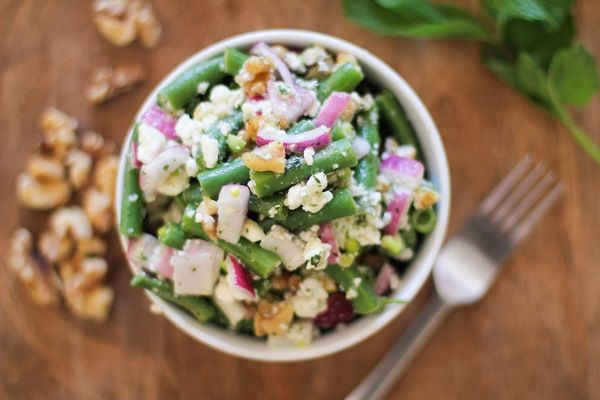 Green Bean Salad with Walnuts and Feta | Recipe
