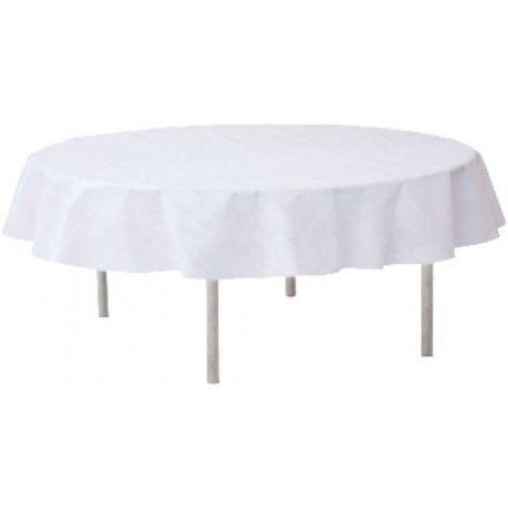 Nappe blanche intissé opaque ronde, nappe ronde, nappe intissée
