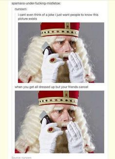 Hello, this man is called Sinterklaas. He's like santa claus. He gives presents to children in the Netherlands. He also has knights, who bring the presents for the old man.  Bye. @floorroll
