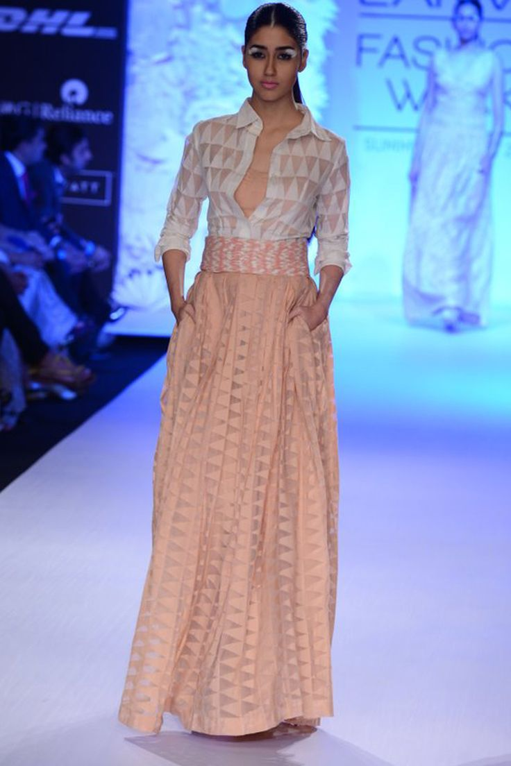 DAY 3: ANITA DONGRE  Anita Dongre brings us an exquisite collection filled with soft pastel hues and elegant silhouettes. Shop straight off the runway: http://www.perniaspopupshop.com/lakme-fashion-week/anita-dongre  #straightofftherunway #designer #lakmefashionween #fashionweek #updates #indian #anitadongre #sexy #amazing #spring #fabulous #spring #resort #ss14 #bombay #mumbaifashionweek