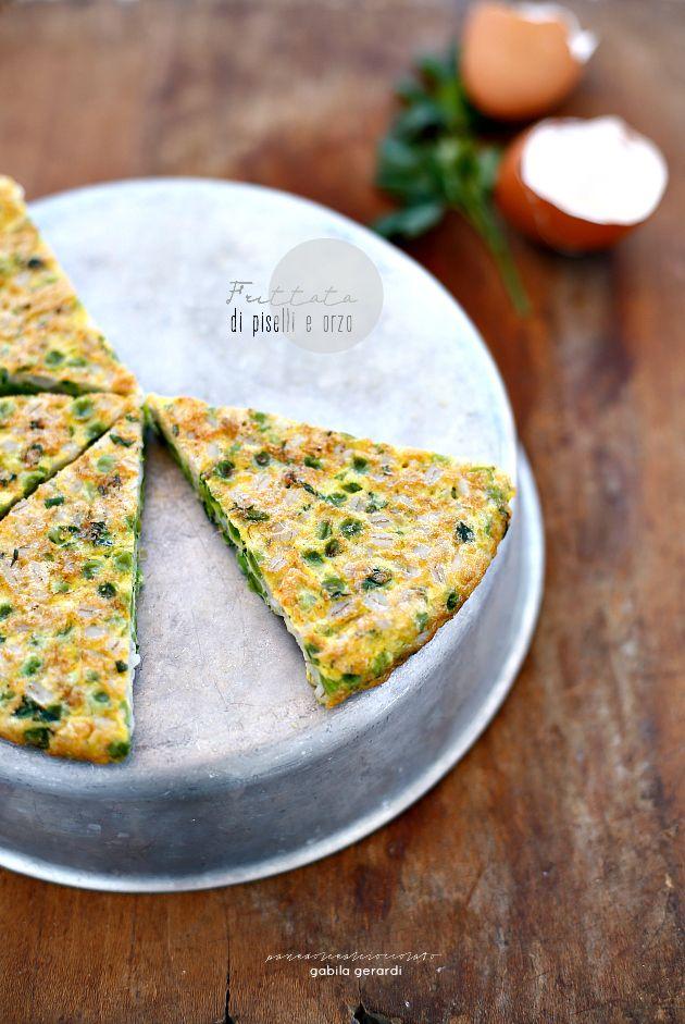 Frittata di Piselli e orzo - Green Recipe
