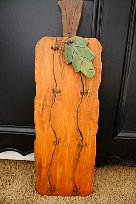 wooden pumpkin - want to make a few similar to this... just an idea to show hubby