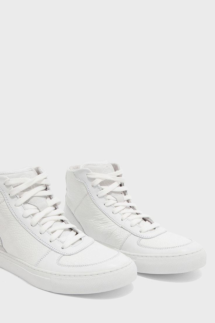STONE ISLAND High Top Leather Trainers. #stoneisland #shoes #