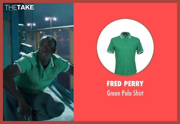 Fred Perry Green Polo Shirt as seen on Colonel James Rhodes / War Machine in…