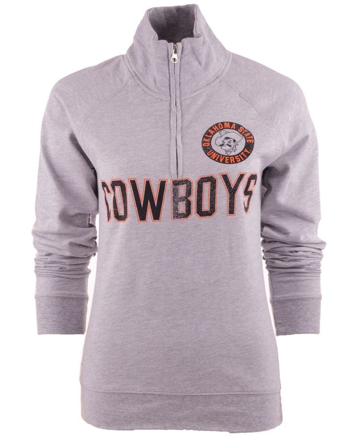 Camp David Women's Oklahoma State Cowboys Quarter-Zip Pullover