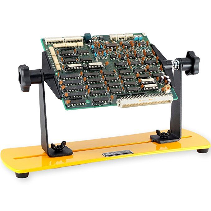 Quadhands Flip Circuit Board Holder Rotate Your Pcb 360 Degrees With Ease Circuit Board Circuit Electronic Workbench