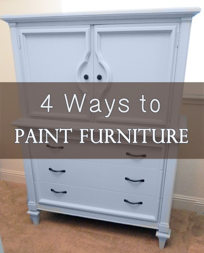 4 Different ways you can paint furniture