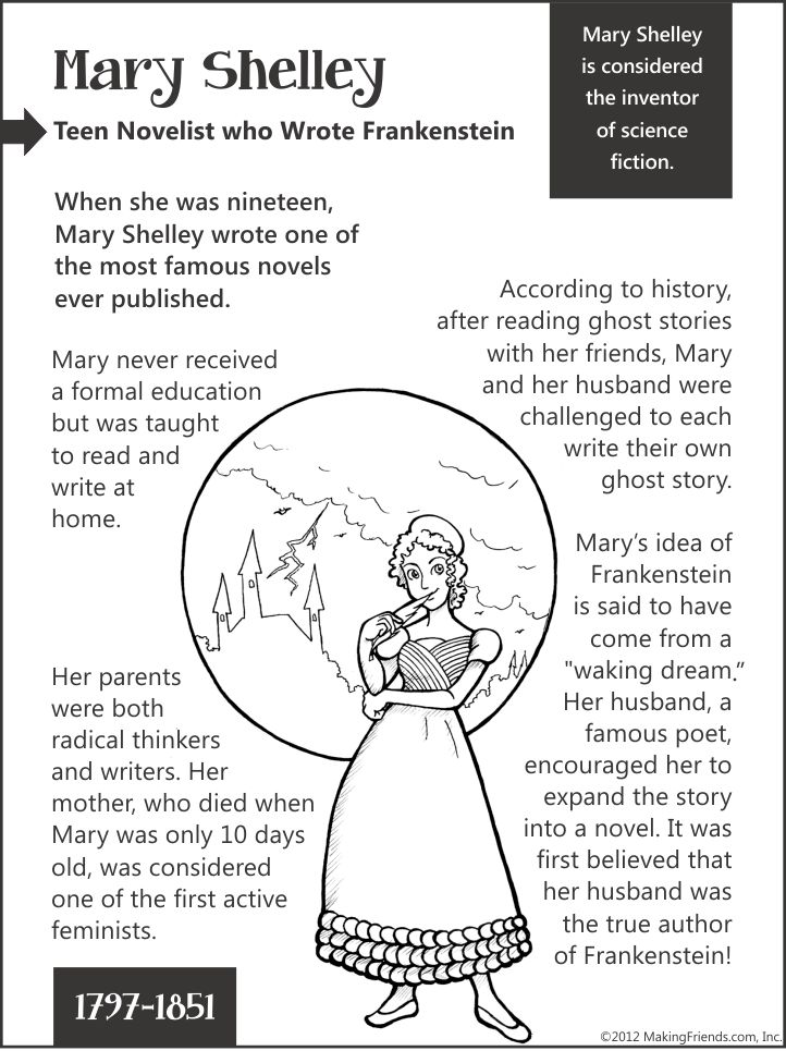 Mary Shelley... Teen Novelist who Wrote Frankenstein...aMuse Journey