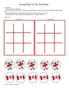 Canada Day Tic Tac Toe Game