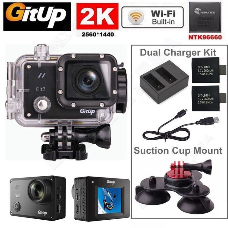 "Gitup Git2 Pro 16M 2K Wifi Sports Action Camera 1080P Full HD Camcorder  1.5"" LCD screen+Battery Dual Charger+Tripod Holder #Affiliate"