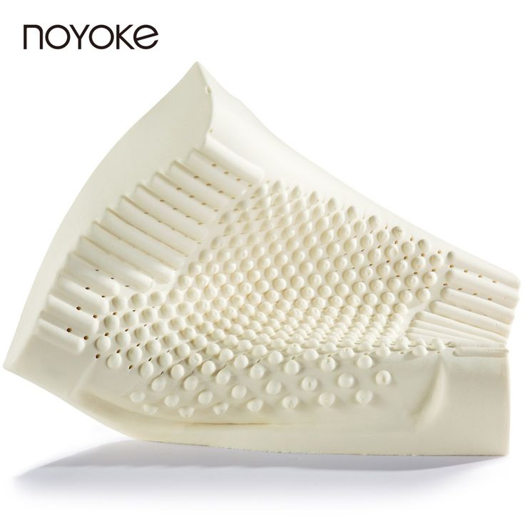 NOYOKE 60*40*12-10 cm Thailand Import Natural Latex Orthopedic Neck Pillow Cervical Health Care Orthopedic Massage Latex Pillow