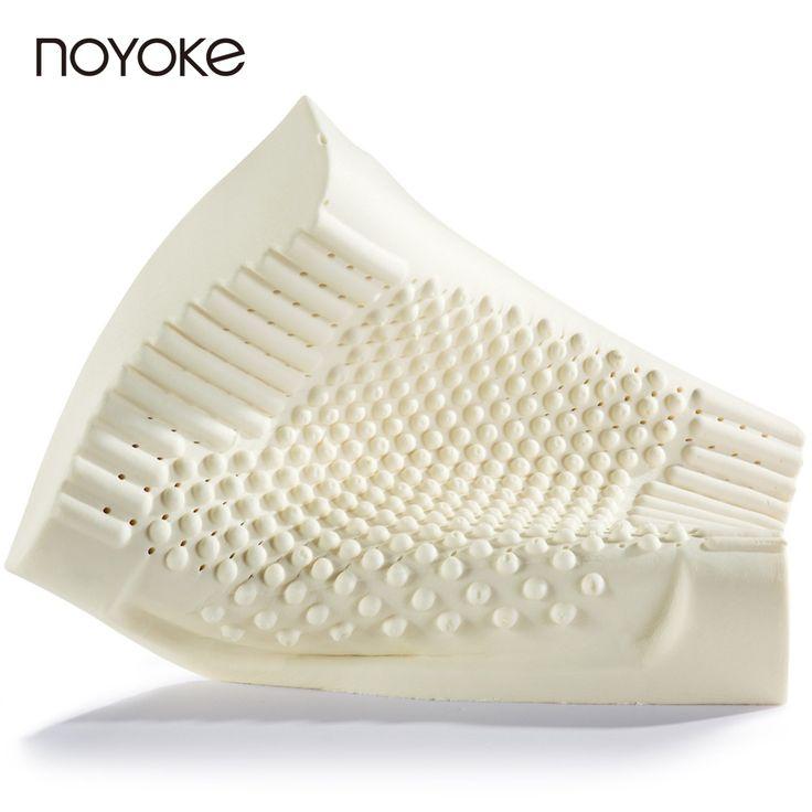 Noyoke 60*40*12-10 cm látex natural de tailandia ortopédicos ortopédica almohada cervical de atención médica masaje almohada de látex