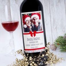 Personalizowane Czerwone Wino KOKARDA idealny na urodziny