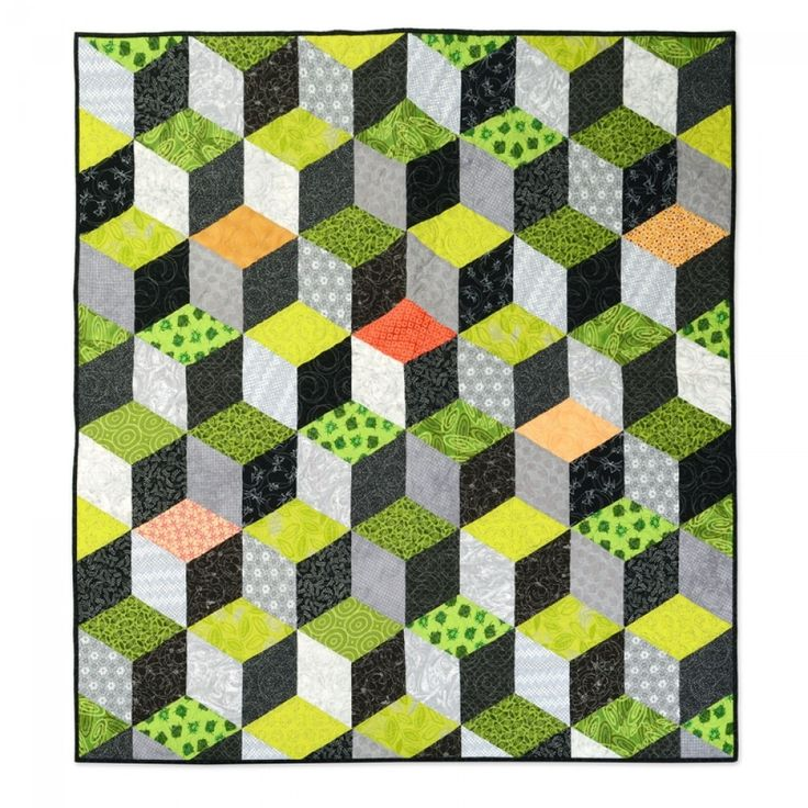 Quilting Patterns Tumbling Blocks : The 25+ best ideas about Tumbling Blocks on Pinterest Quilting ideas, Quilt blocks easy and ...