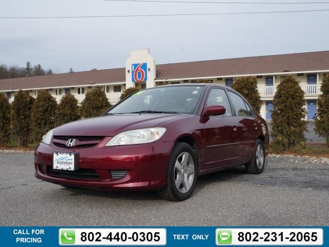2004 Honda Civic EX 128k miles red $4,994 128634 miles 802-440-0305 Transmission: Manual  #Honda #Civic #used #cars #BrattleboroSubaru #Brattleboro #VT #tapcars
