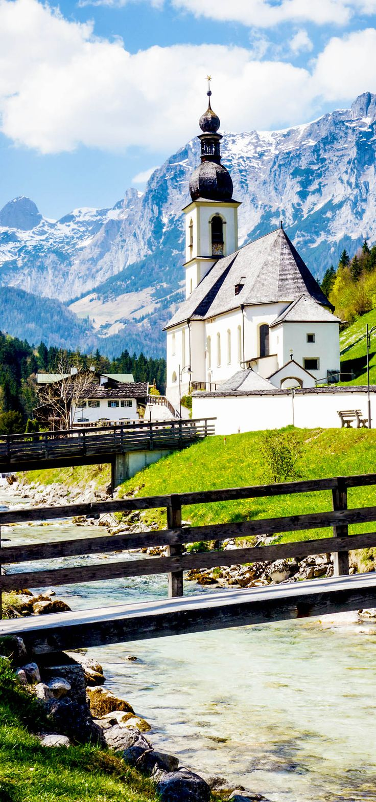 Famous Old Church in Ramsau, Austria    |    30+ Truly Charming Places To See in Austria