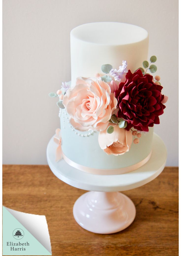 Exquisite Floral Wedding Cake. All edible flowers.  Cake Designer Elizabeth Harris - Book a Consultation today, click the link to website.