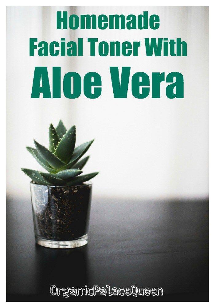 Homemade Facial Toner With Aloe Vera With Images Homemade Wrinkle Cream Homemade Facials Facial Toner