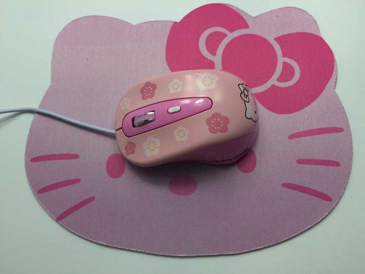 New Hello Kitty Wired Mouse Computer USB Optical Mouse + Cute Mouse Pad For Computer Laptop