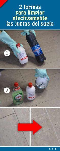 2 formas para limpiar efectivamente las juntas del suelo. ¡Limpieza fácil! #limpieza #limpiar #juntas #suelo #azulejos #baldosas