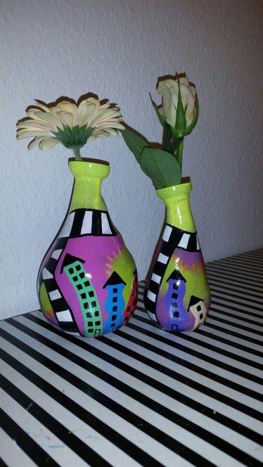 Mini vaser med de skæve huse