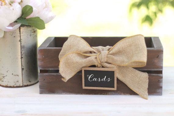 Rustic Card Box or Advice Box / Wedding / Baby Shower / Rustic Home Organization  ★ ★ ★ ★ ★ ★ ★ ★ ★ ★ ★ ★ ★ ★ ★ ★  Before ordering, please click