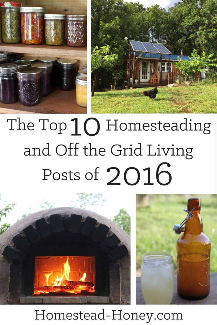 The Top Homesteading and Off the Grid Posts of 2016, all in one spot, plus the top posts from 2015 and 2014 too!| Homestead Honey