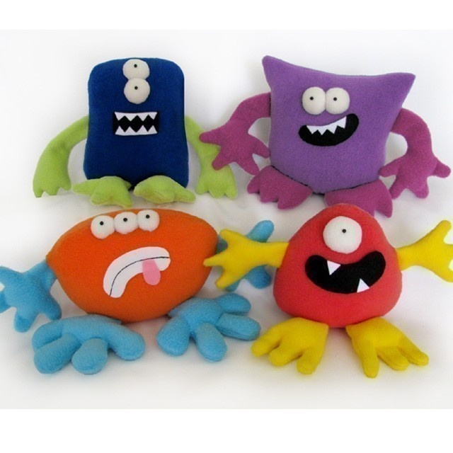 MONSTERS Mix and Match Plushies Pattern PDF. $12.00, via Etsy.