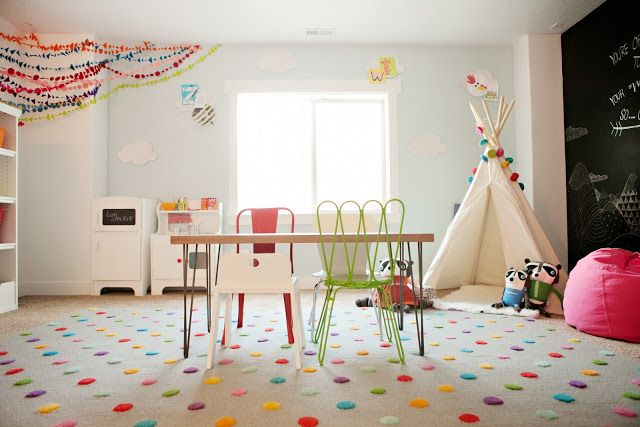 Playroom. that rug. Basically everything from land of nod. 6th Street Design School