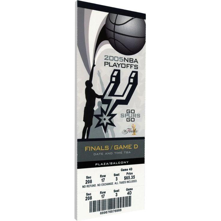 That's My Ticket San Antonio Spurs 2005 NBA Finals Game 4 Canvas Ticket, Team