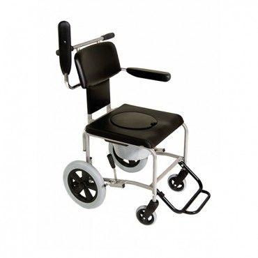 Der Schieberollstuhl RS-T vereinigt auf gelungene Weise zwei herkömmliche Rollstuhlvarianten, den Schieberollstuhl und den Toilettenrollstuhl. Durch solch eine zweckmäßige Kombination wird er zum unentbehrlichen Helfer im stationären und häuslichen Einsatzbereich.  Gegen Aufpreis kann er auch als Duschrollstuhl gebaut werden.  Einzigartig ist die Möglichkeit, auch in kleinsten Bädern und Toiletten-Räumen rückwärts über die Toilette selbst zu fahren und somit ohne Toilettenbehälter jederzeit…