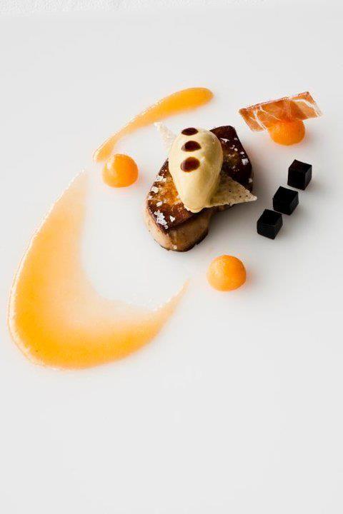 Seared Foie Gras, Apricot Reduction, Red Wine Gellie , Foie Gras Mousse
