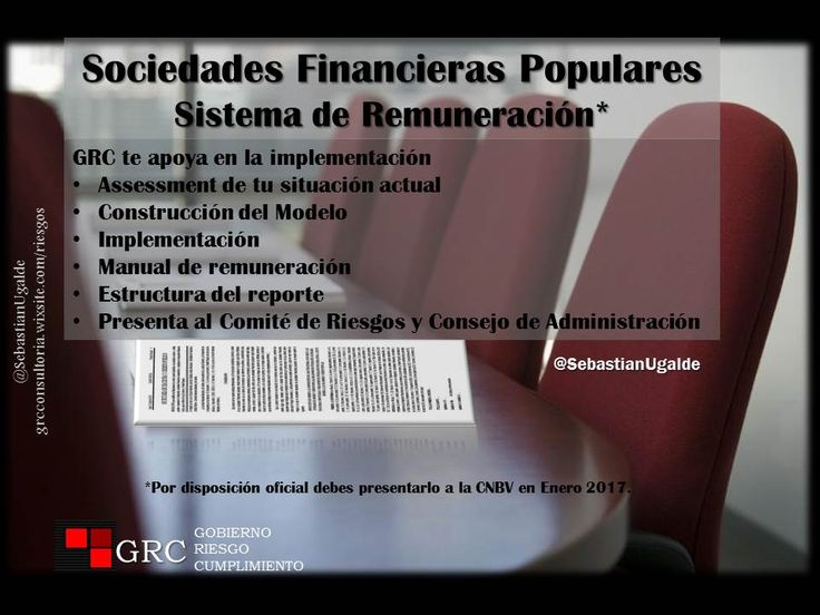 GRC ofrece soluciones para el cumplimiento de la disposición vigente para Sociedades Financieras Populares