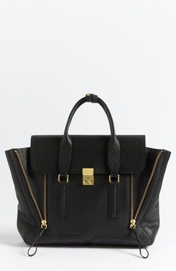 3.1 Phillip Lim 'Pashli' Leather Satchel Black