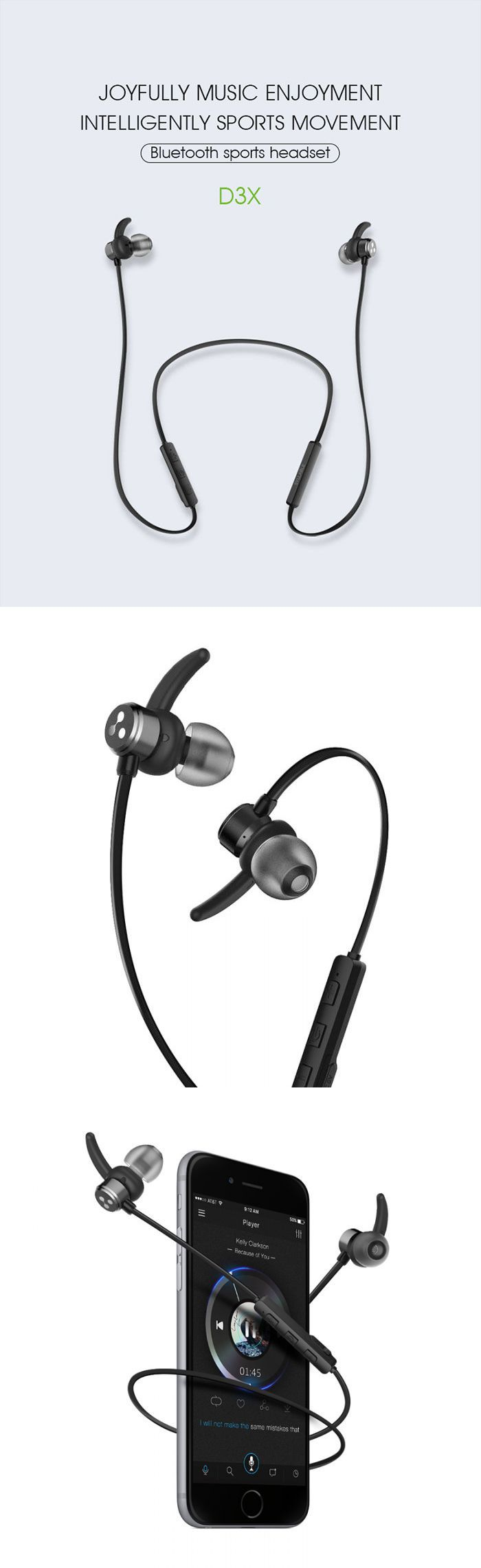 Unique design;Magnetic magnetic design function;Waterproof function;Bluetooth version 4.2;New sports exclusive earbud tips with ear wing-crescent shape;120°tilting angle,ergonomic design.