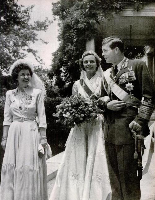 King Mihai I. of Romania and Anna de Bourbon-Parma (with Queen Frederika of Greece)