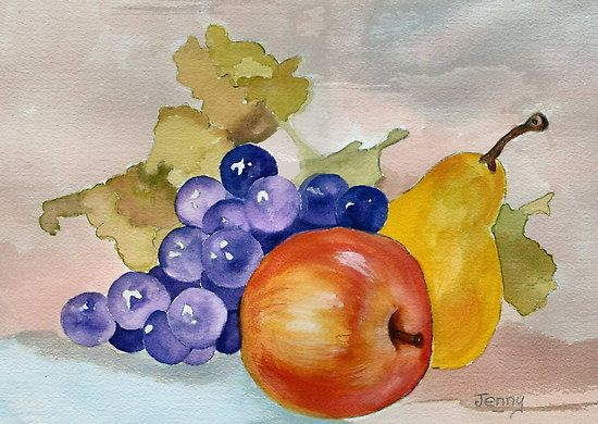 Still Life Watercolors And Purple On Pinterest